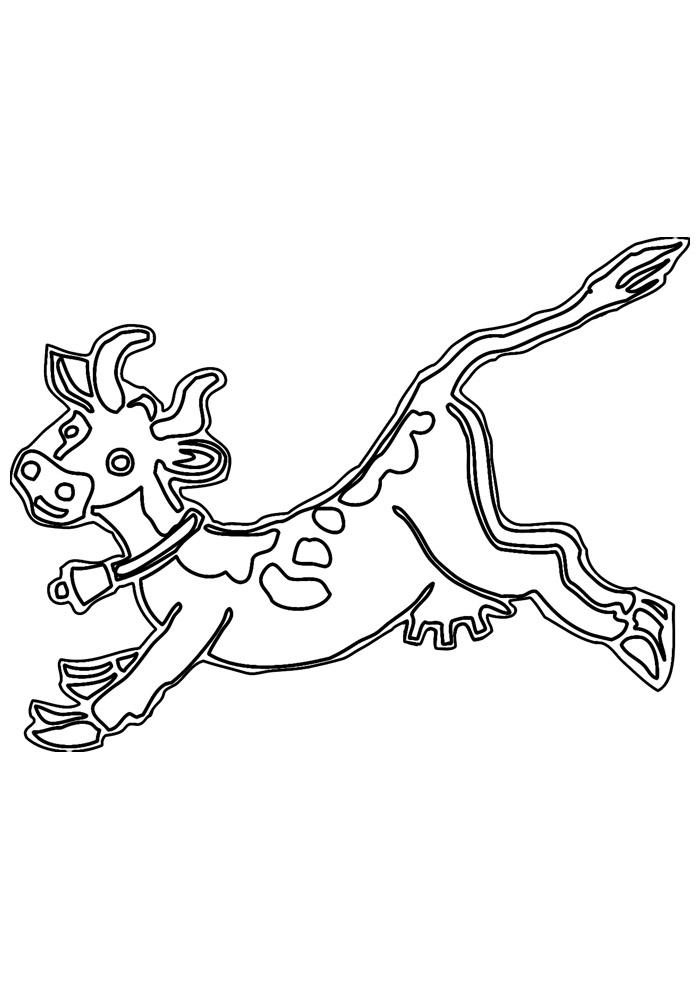 vaca para colorir 14