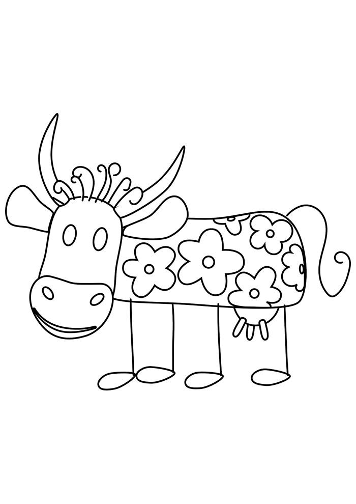 vaca para colorir 16