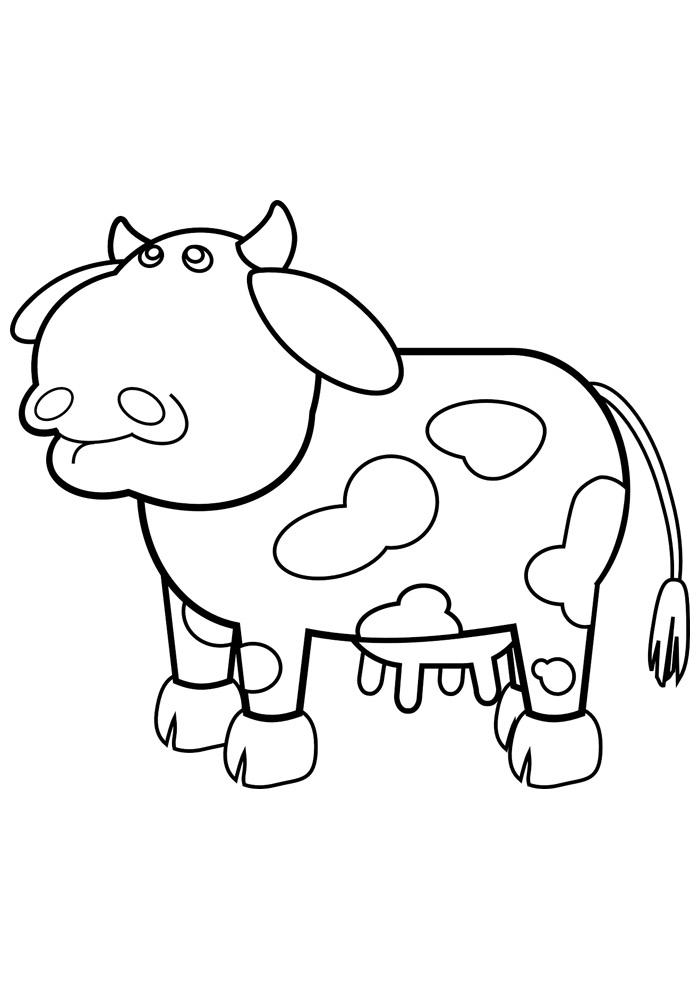 vaca para colorir 17