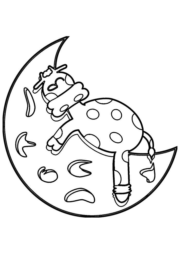 vaca para colorir 19