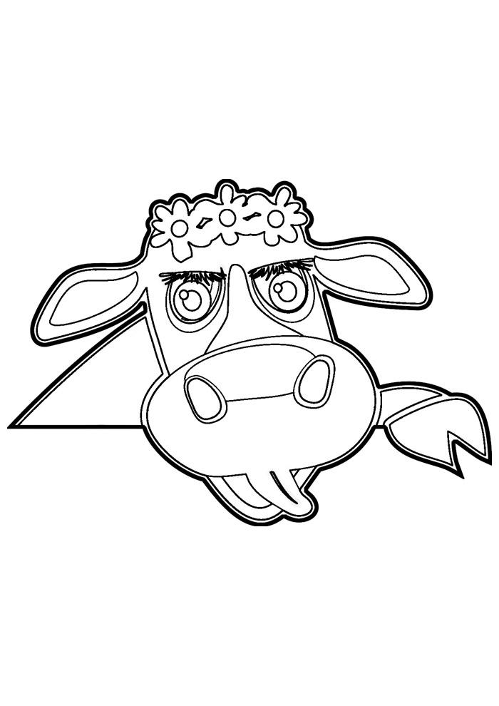 vaca para colorir 2
