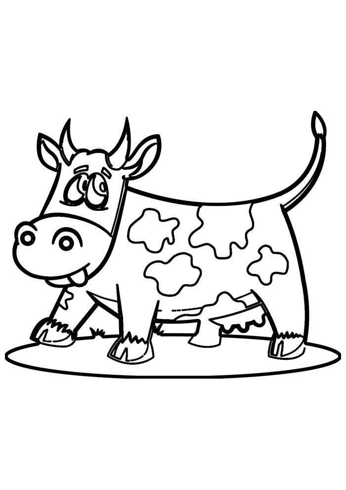 vaca para colorir 22