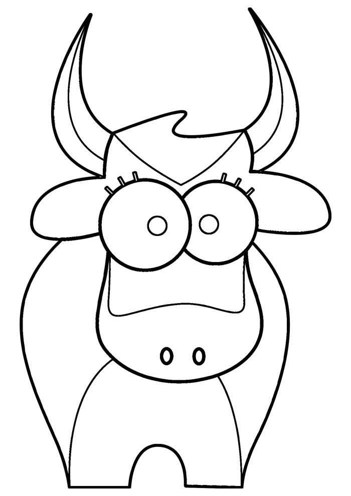 vaca para colorir 23
