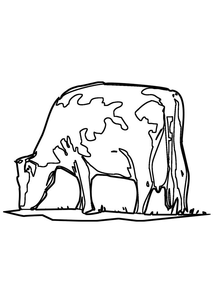vaca para colorir 25