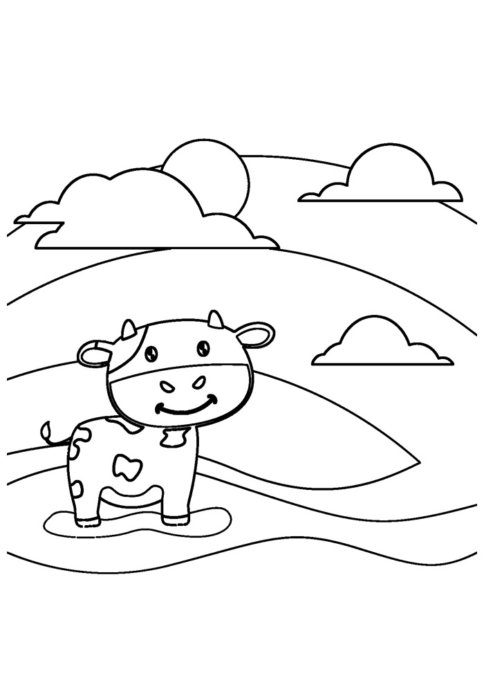 vaca para colorir 27