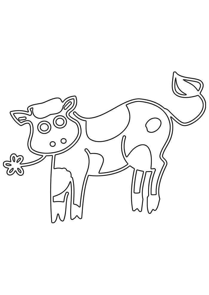 vaca para colorir 28