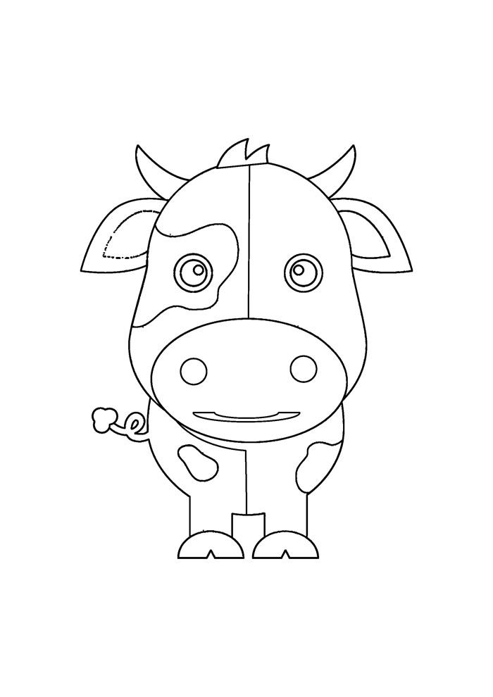 vaca para colorir 29
