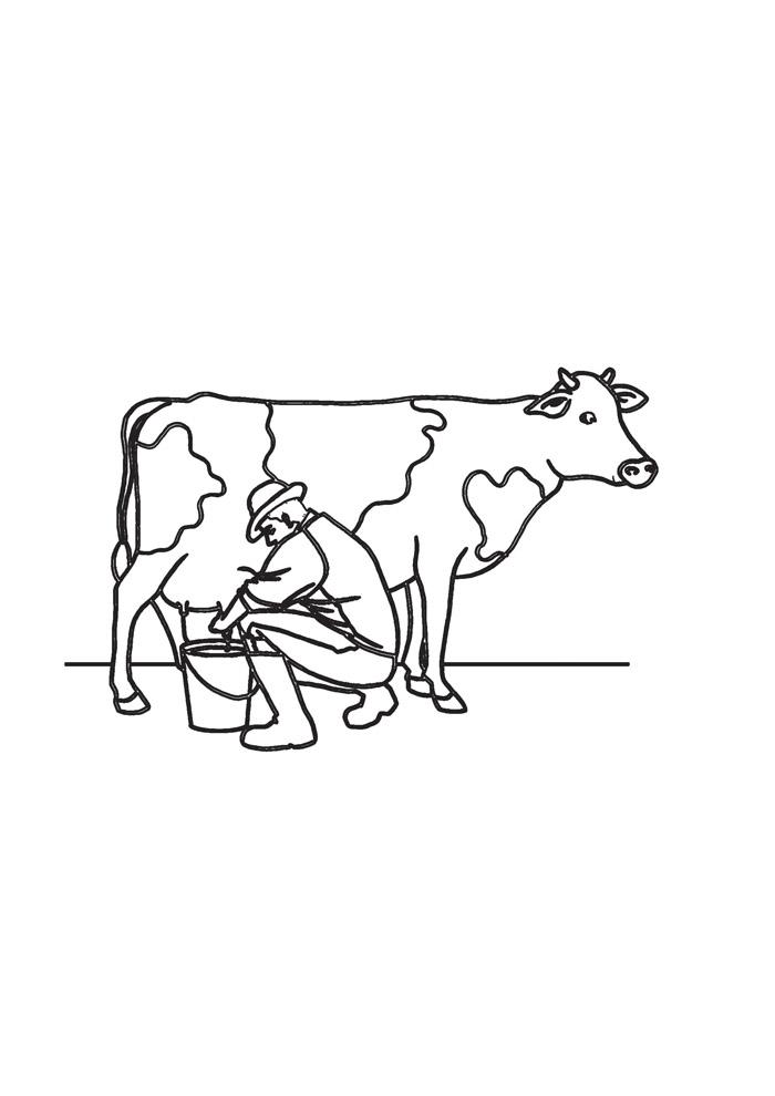 vaca para colorir 30