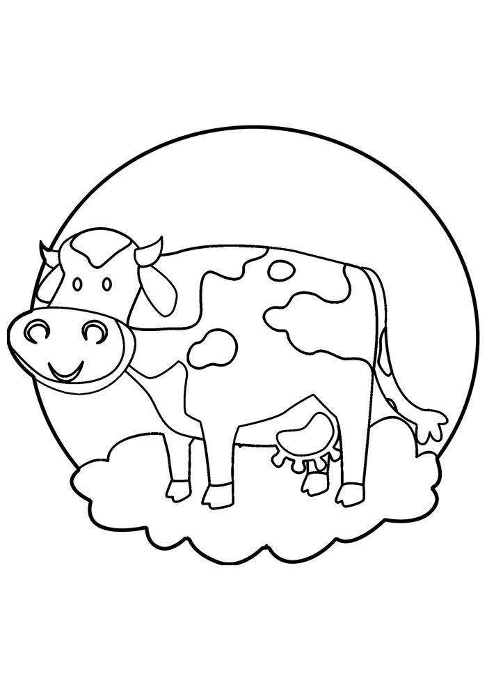 vaca para colorir 33