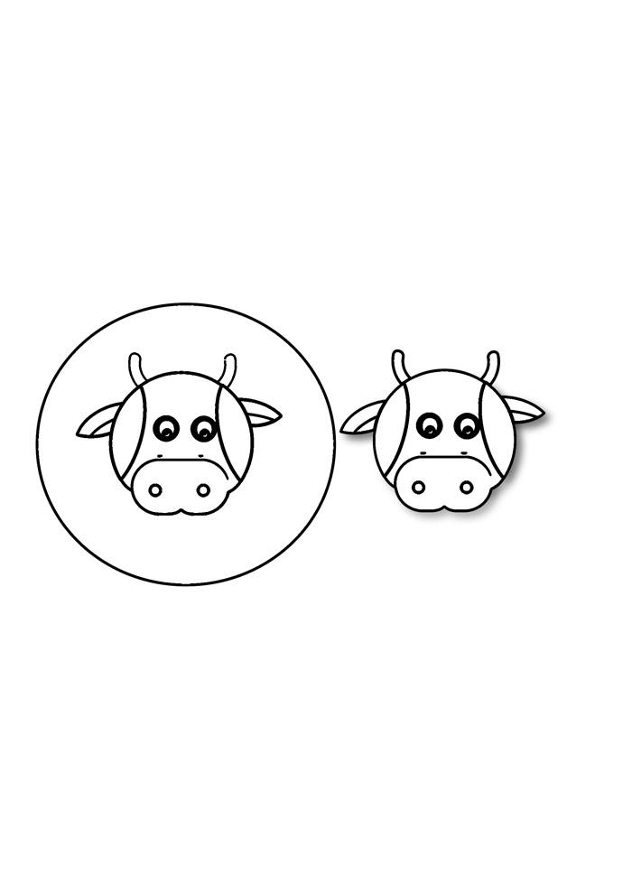 vaca para colorir 34