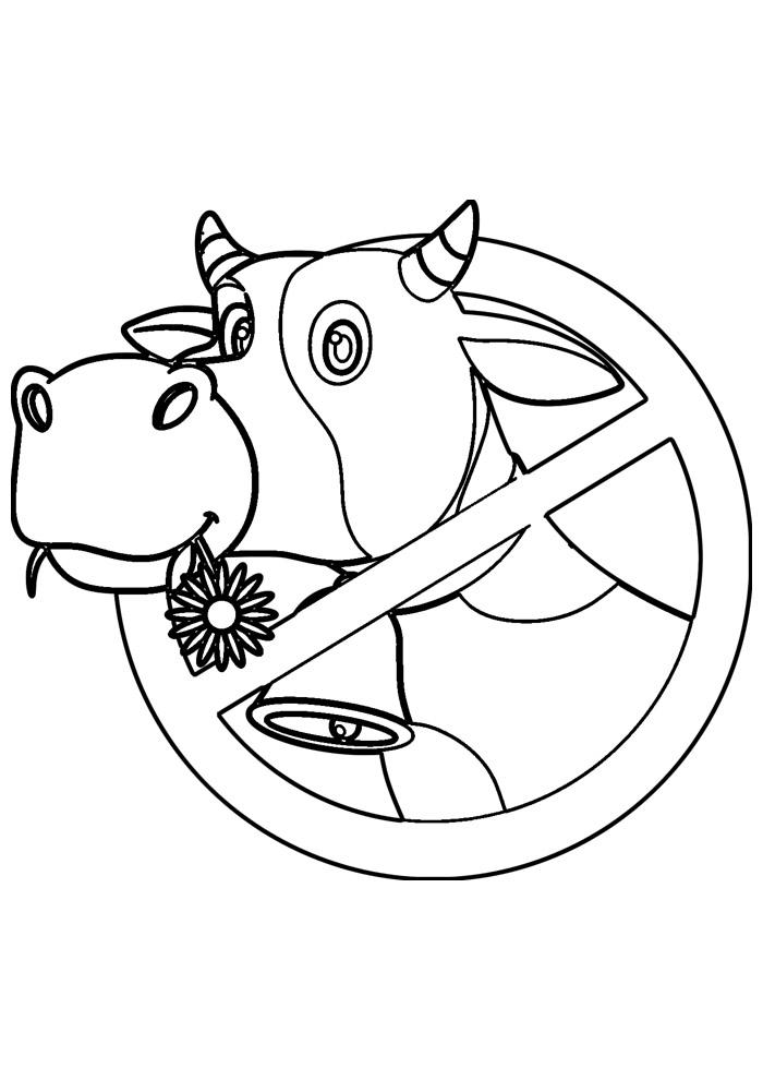 vaca para colorir 36
