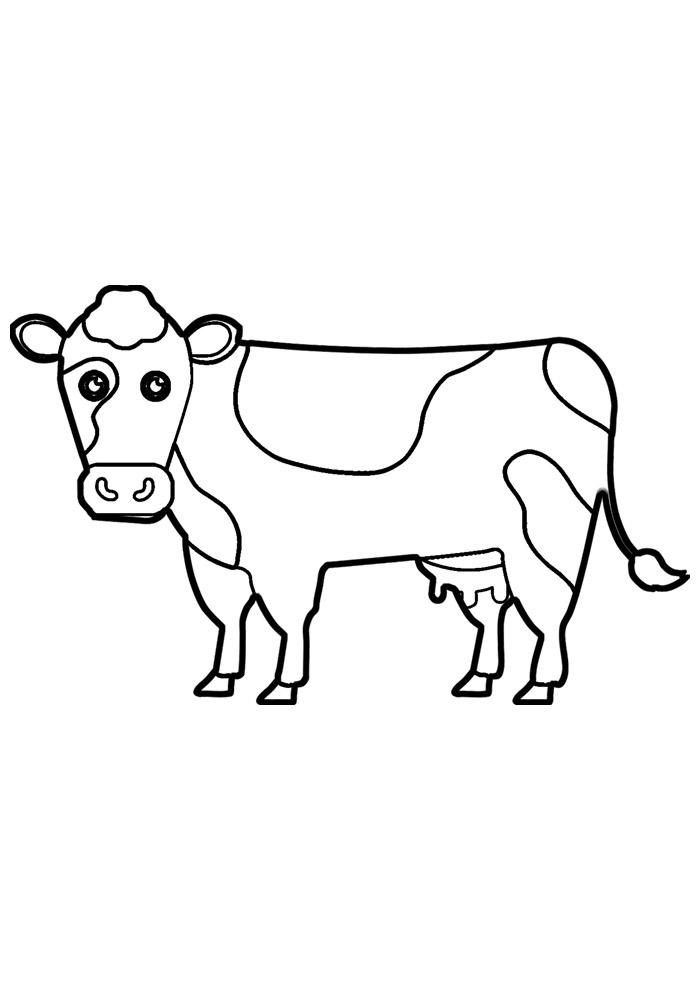 vaca para colorir 37