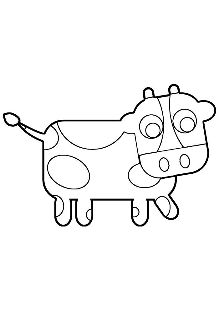 vaca para colorir 4