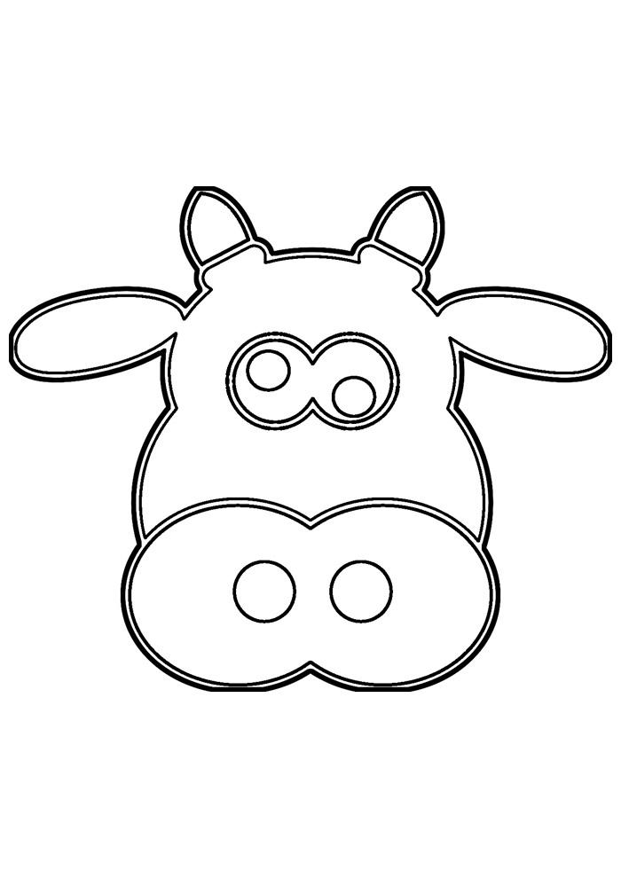 vaca para colorir 40