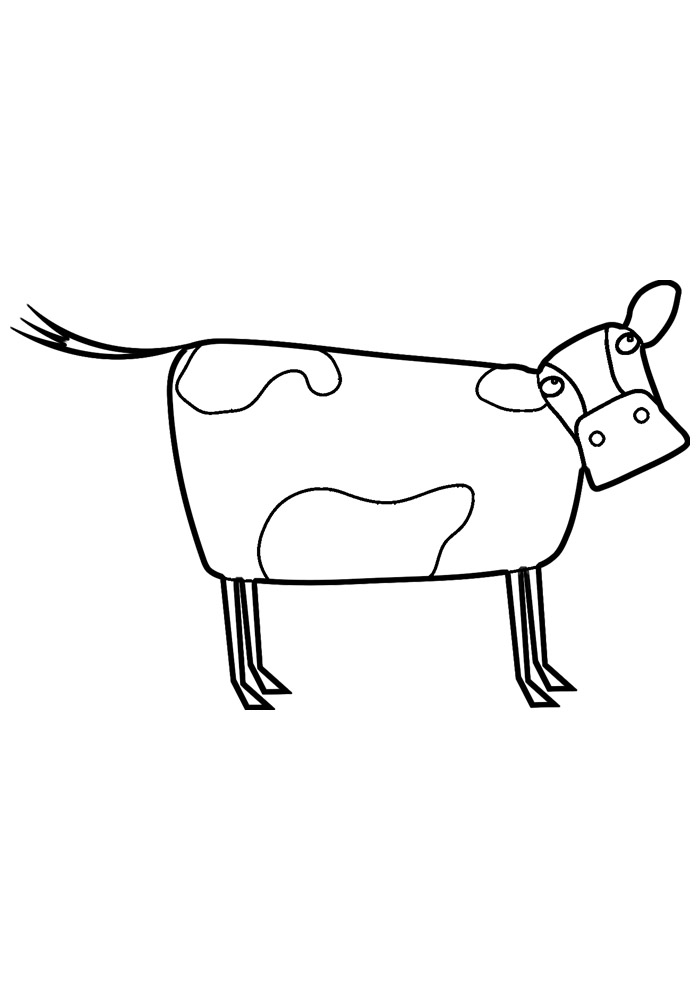 vaca para colorir 5