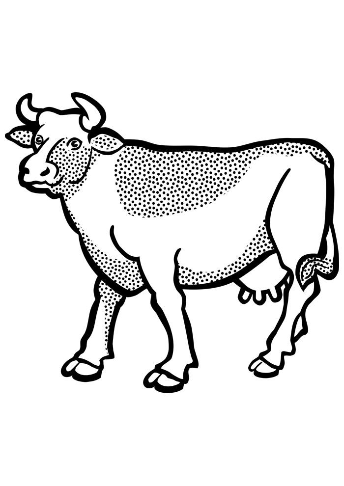 vaca para colorir 7
