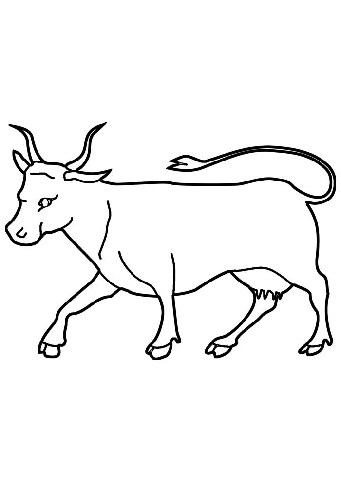 vaca para colorir 8