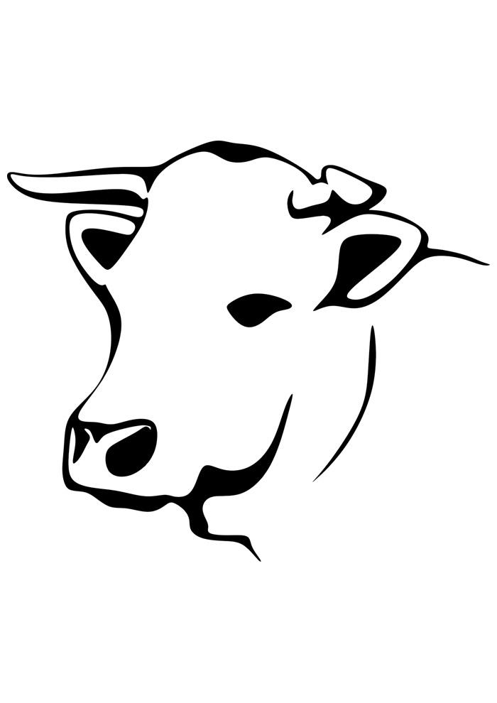 vaca para colorir 9