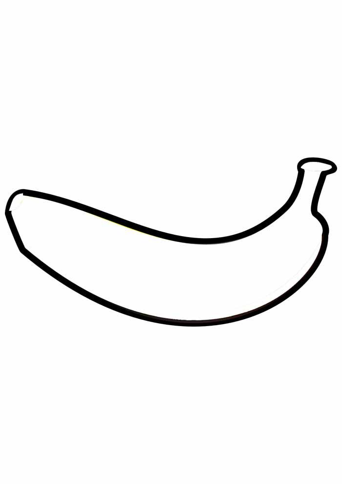 banana para colorir 10
