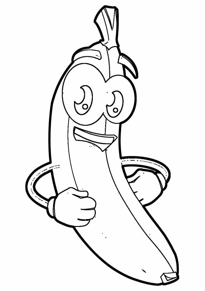 banana para colorir 14