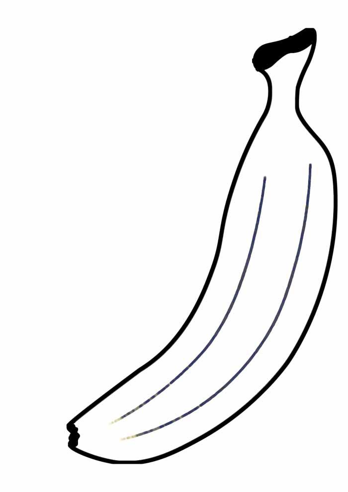 banana para colorir 20