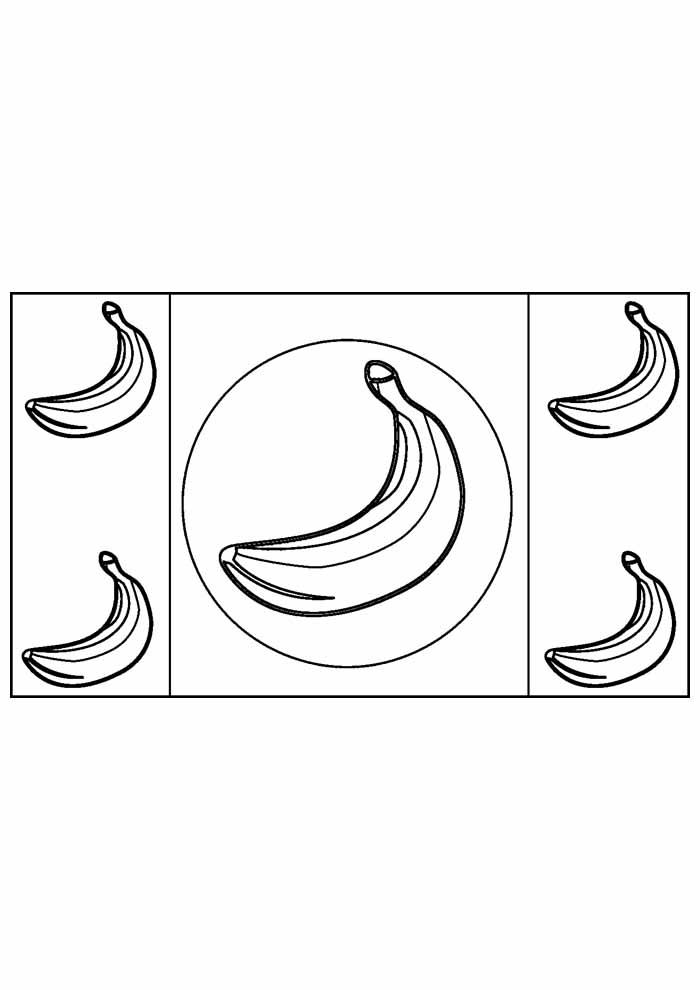 banana para colorir 22