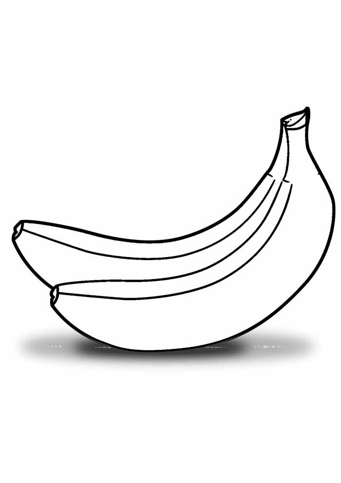 banana para colorir 24