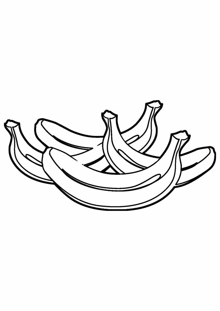 banana para colorir 25