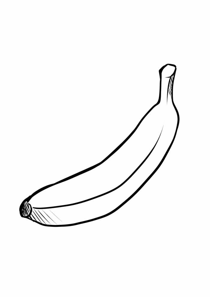 banana para colorir 28