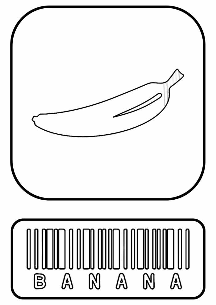 banana para colorir 4