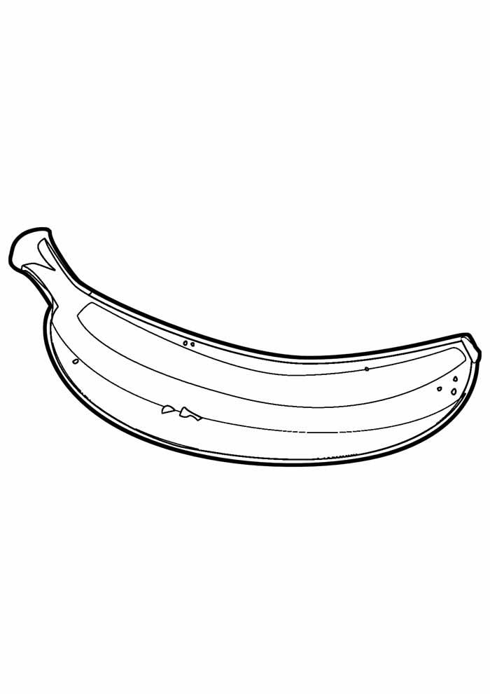 banana para colorir 6