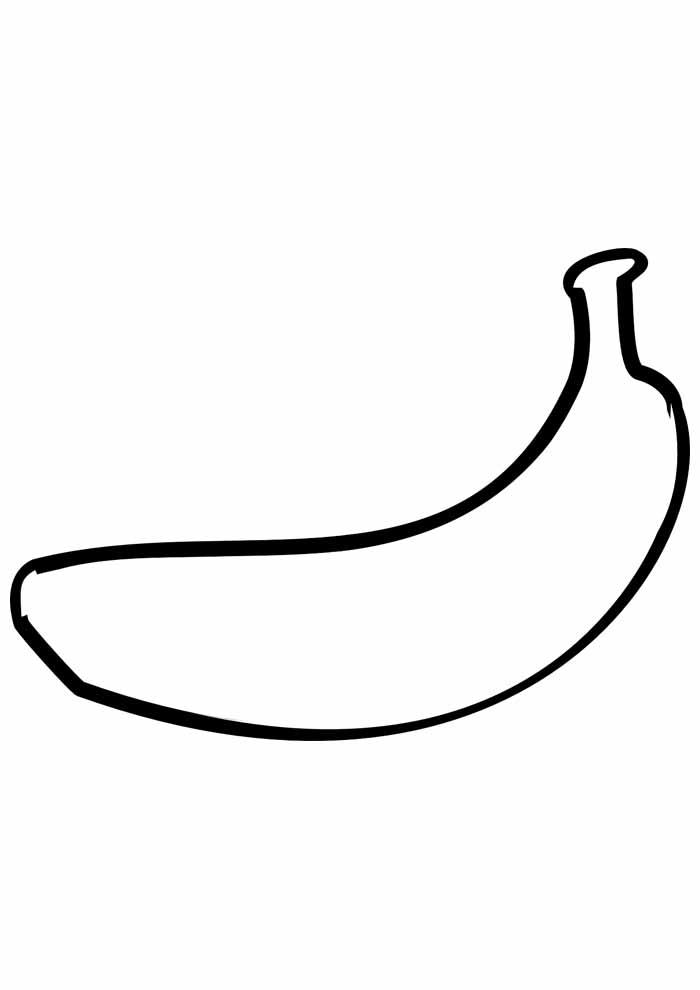 banana para colorir 8