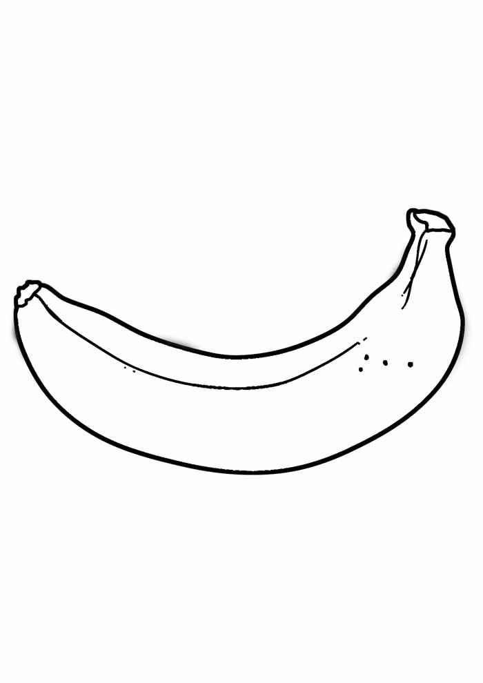 banana para colorir 9