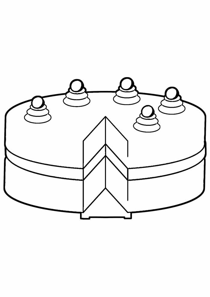 bolo para colorir 13