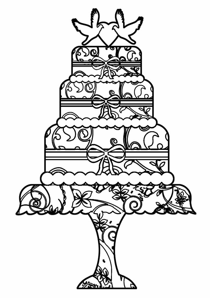 bolo para colorir 17