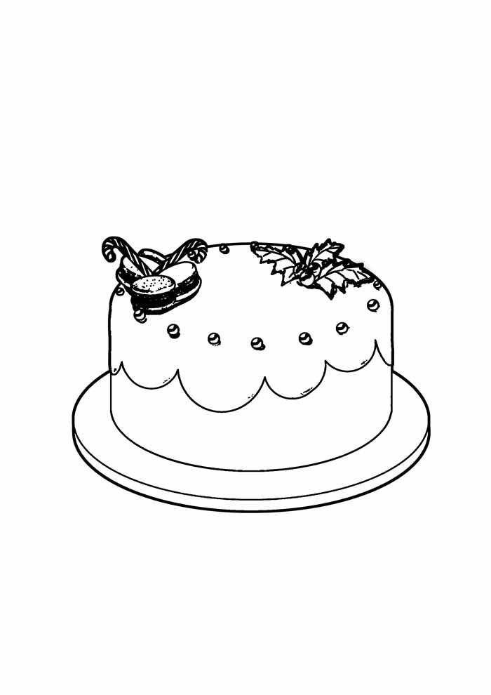 bolo para colorir 20