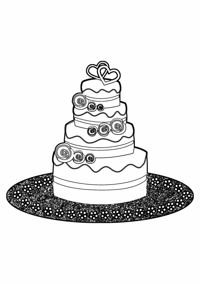 bolo para colorir 23