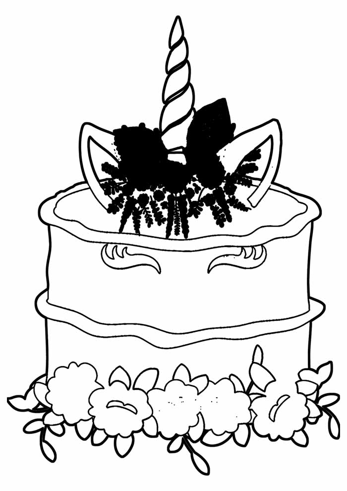 bolo para colorir 40