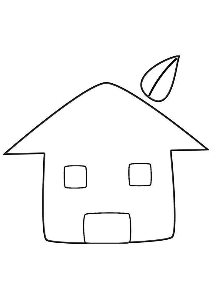 casa para colorir 1