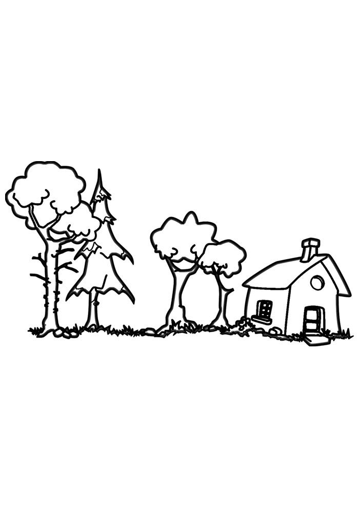 casa para colorir 17