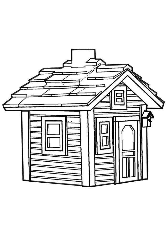 casa para colorir 18
