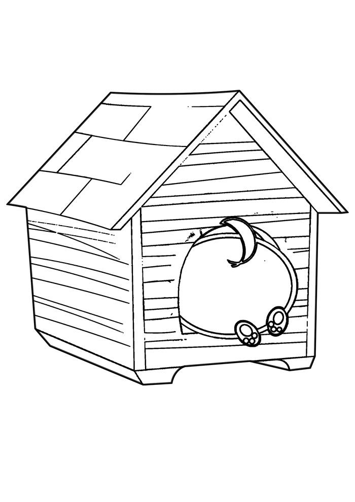 casa para colorir 19