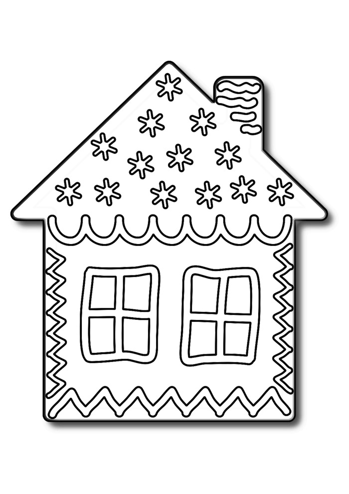 casa para colorir 2