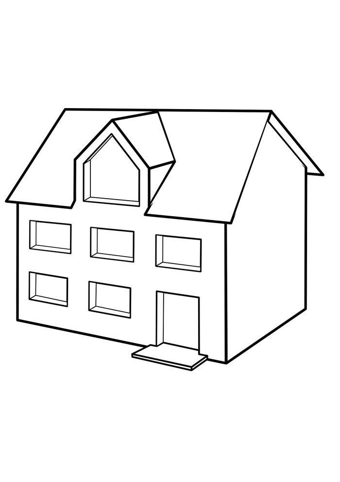 casa para colorir 20