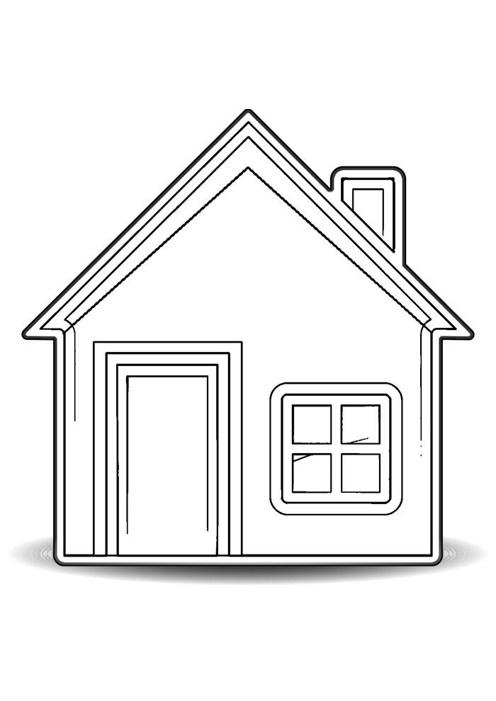 casa para colorir 22