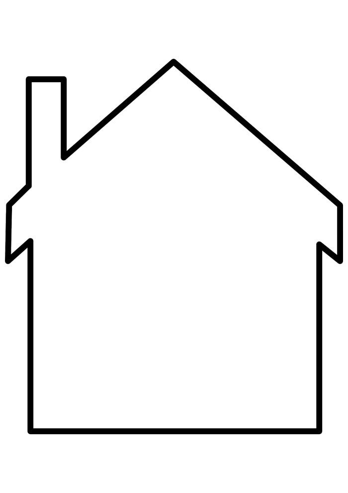 casa para colorir 24