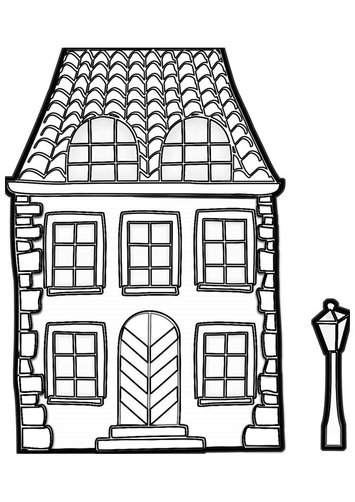 casa para colorir 26