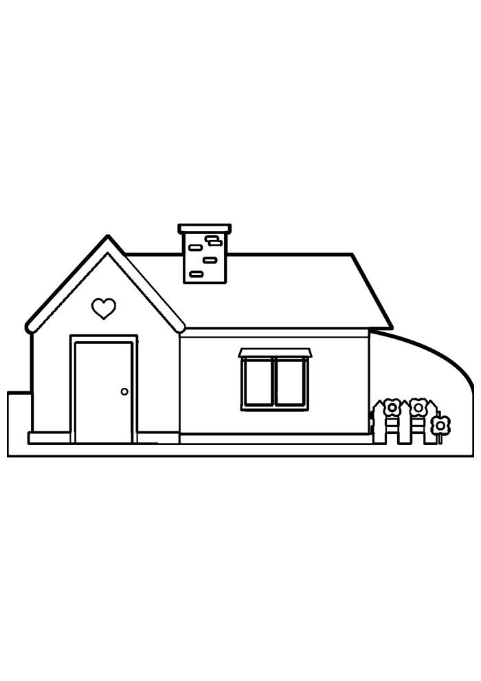 casa para colorir 27
