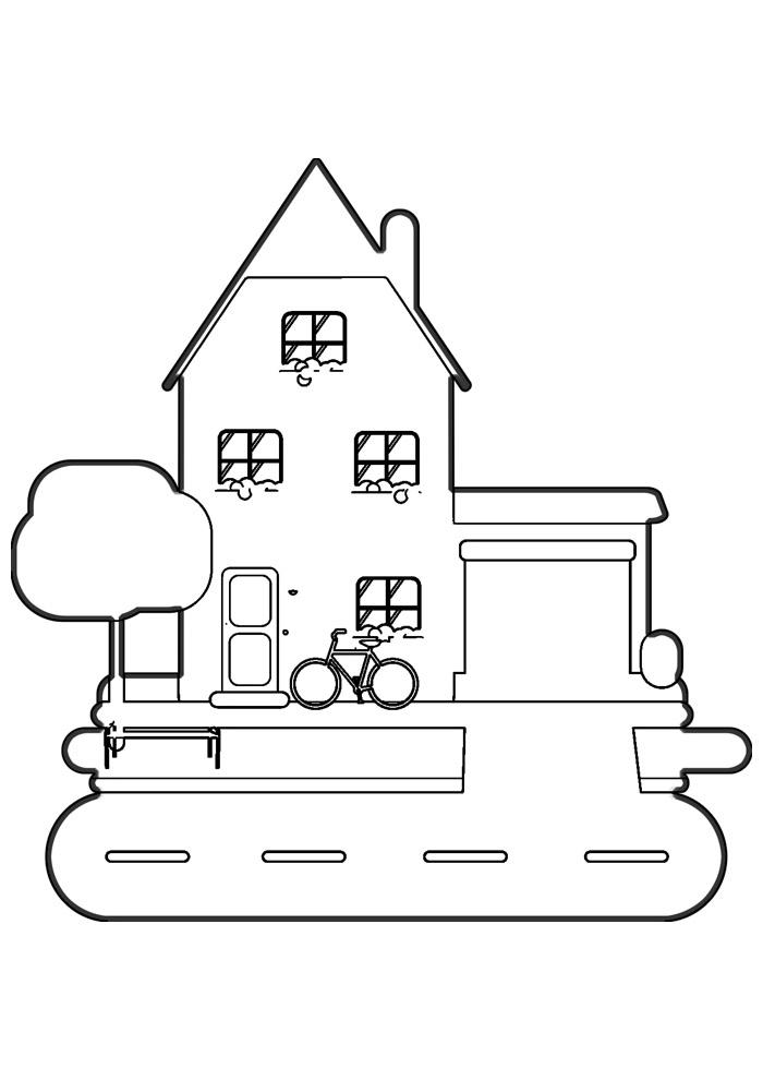 casa para colorir 28