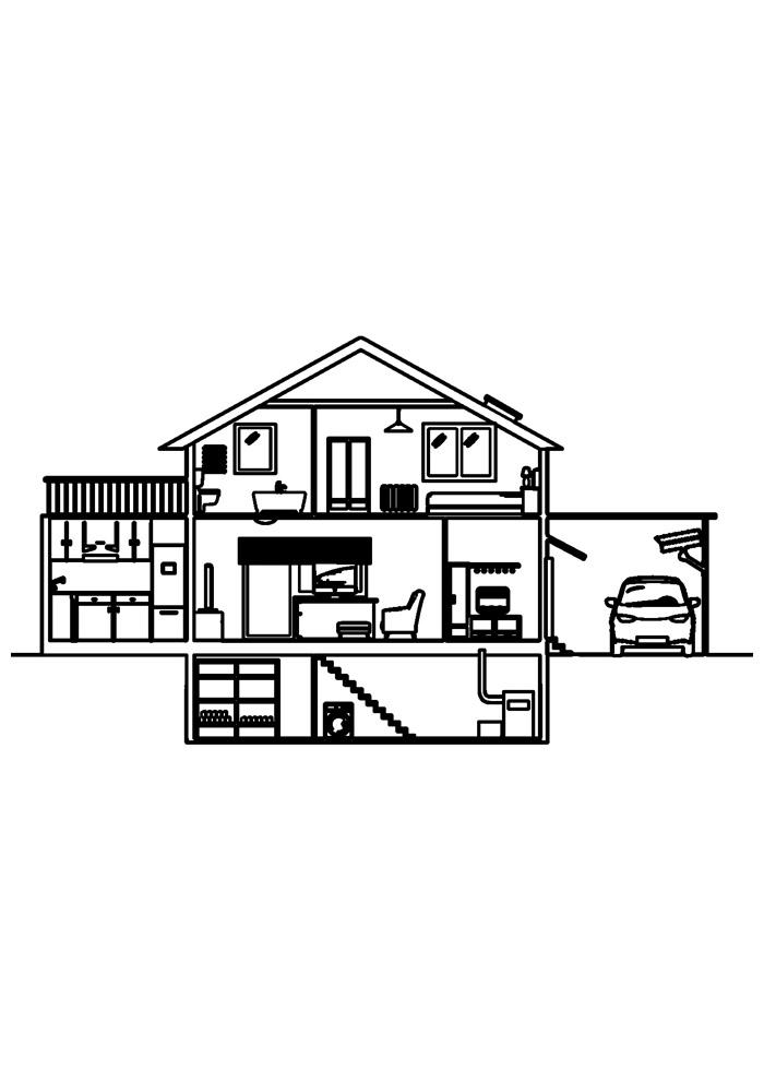 casa para colorir 30